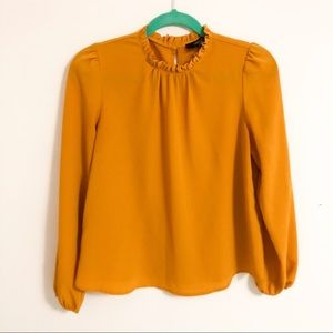 Forever 21 Marigold Yellow High Neck Blouse